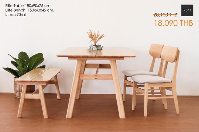 ชุดโต๊ะกินข้าวไม้จริง
