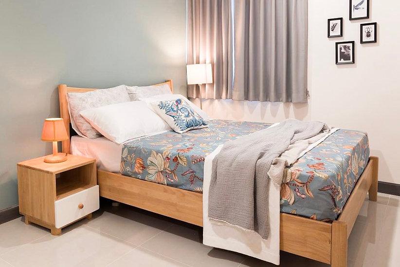 เตียงไม้จริง สไตล์ญี่ปุ่น มินิมอล