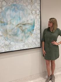 1 of 18 original Kristen Abbott paintings installed at Baptist Regional Medical Center