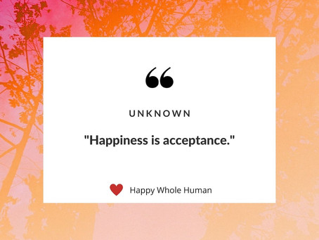 Happiness is Acceptance