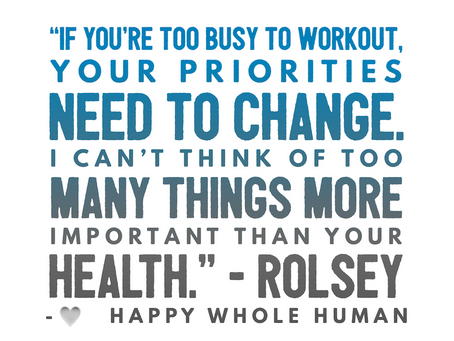 Are You too Busy to Work Out?