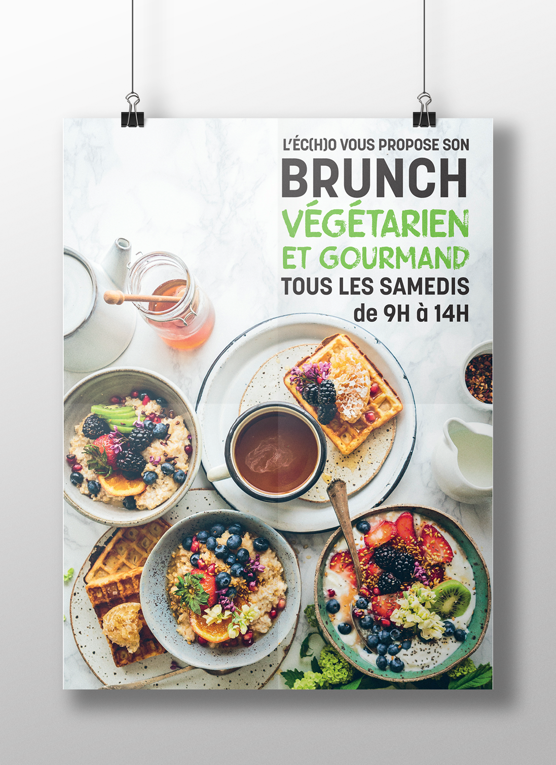 affiche brunch l'écho restaurant