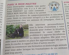 article gazette brizambourg - Parl'à Mon maitre
