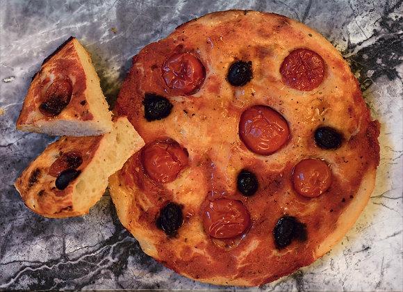 Focaccia Pomodorini e Olive - Box 2 Stücke