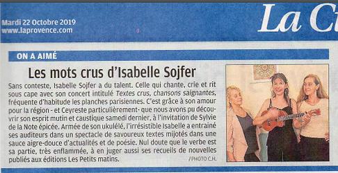 article La Provence Isabelle Sojfer.PNG