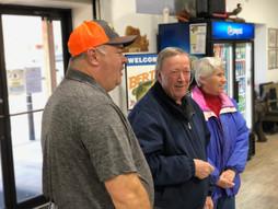 Bert's Owner Frank Greeting Customers