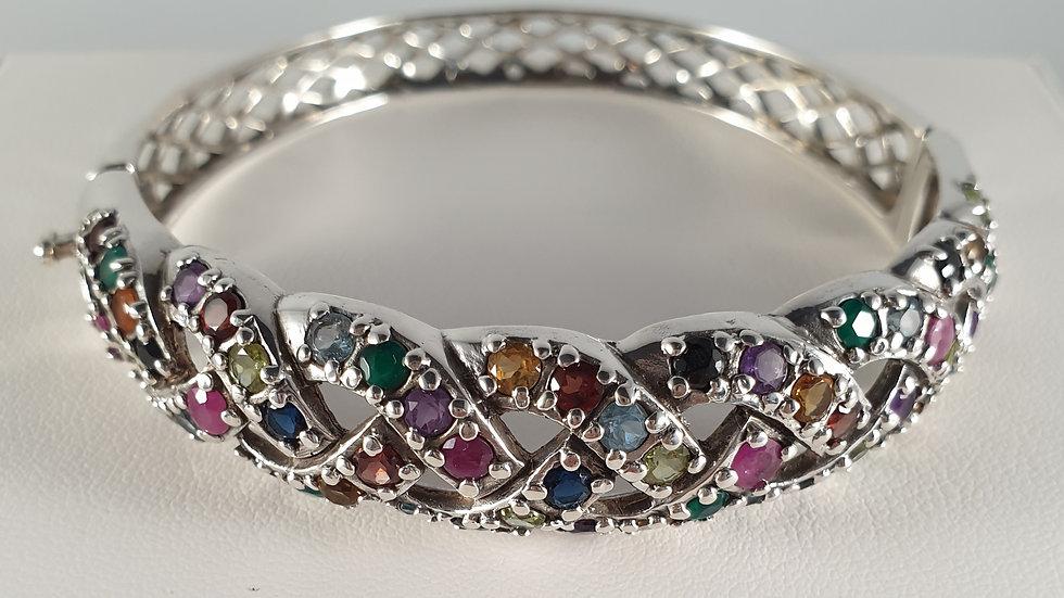 Silver, Emerald, Ruby, Amethyst, Peridot. Garnet, Blue Topaz, Citrine, Sapphire