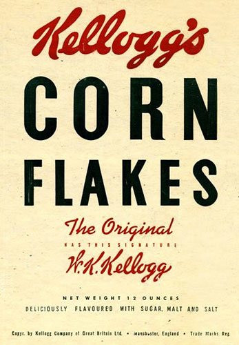 1946 Kellogg's Corn Flake replica