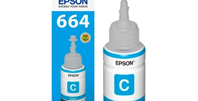 Botella de Tinta Epson 664 Cyan