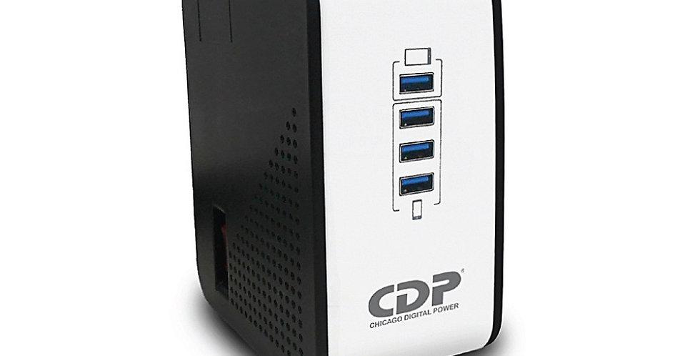 Regulador de Voltaje CDP R2CU-AVR1008 USB 1000VA 400W