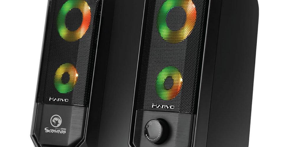 Parlantes 2.0 Marvo SG-265 RGB
