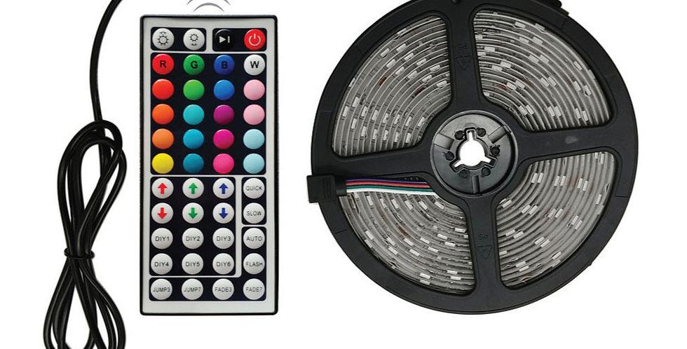 Tira LED RGB con control remoto - LED 5050