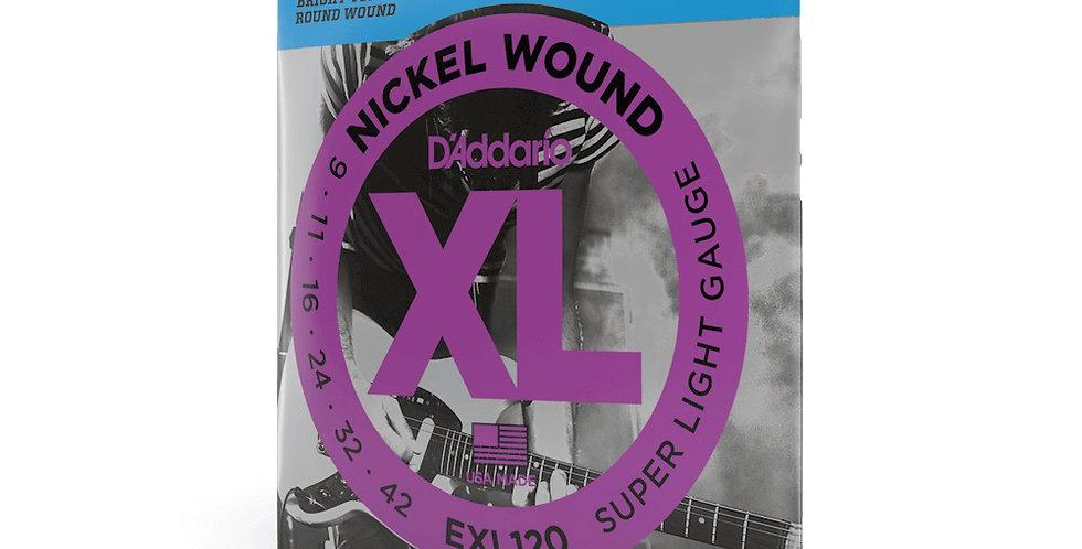 Cuerdas D'Addario Metal EXL120 .009