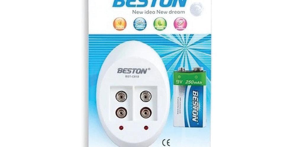 Cargador y Batería 9V Beston BST-C818