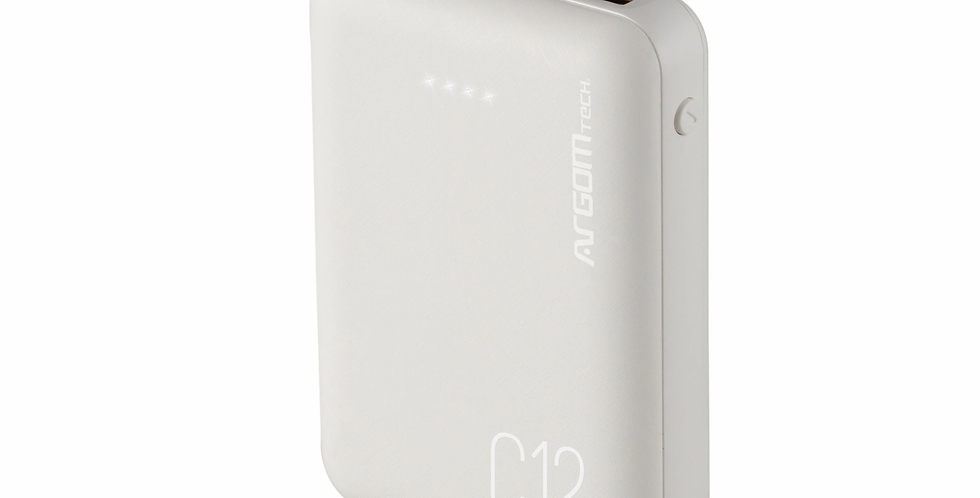 Power Bank C12 12000mAh - Argom Tech ARG-PB-1138BK