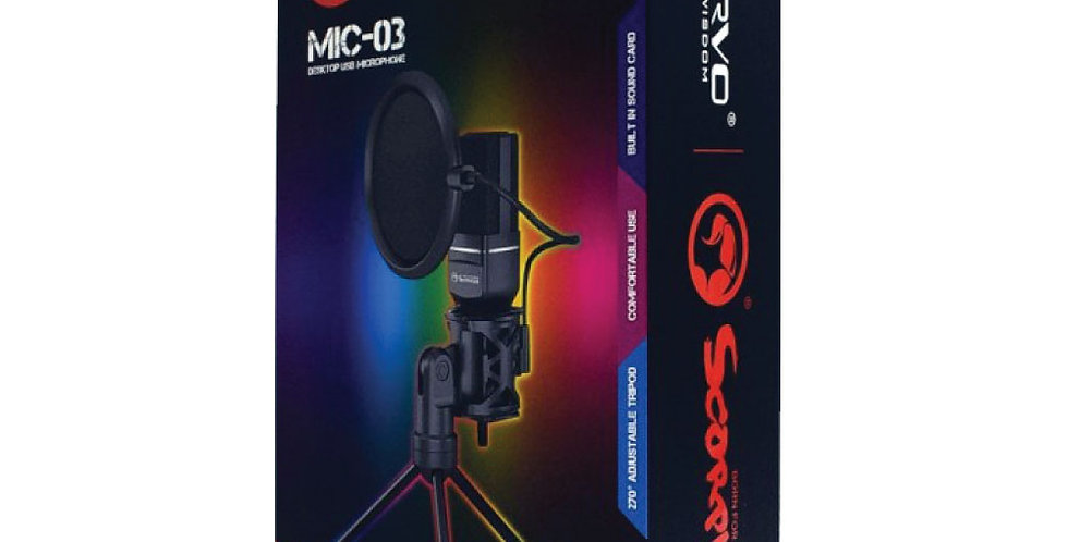 Micrófono Marvo Scorpion MIC-03 USB