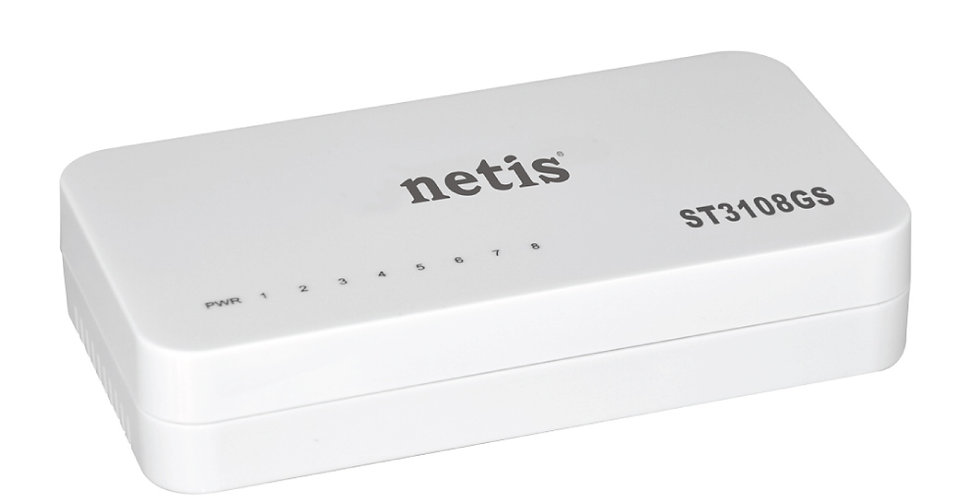 Switch de Red Gigabit Netis   ST3108GS - 8 Puertos 10/100/1000Mbps