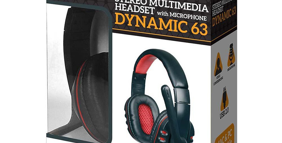 Headset USB Argom Tech Dynamic 63