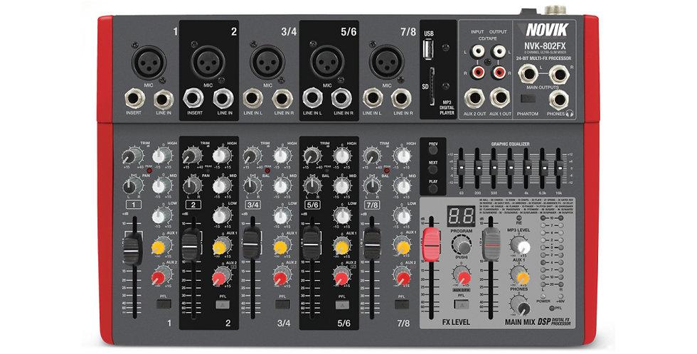 Mixer Novik Neo NV802FK - 8 Canales