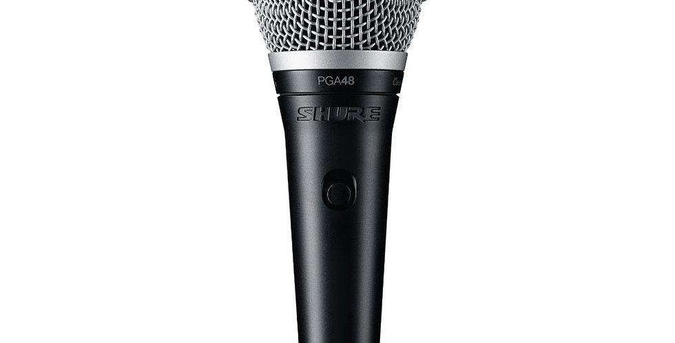 Micrófono Shure PGA48 - Cable XLR