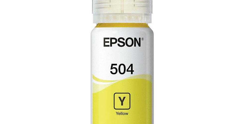 Botella de Tinta Epson 504 Amarilla