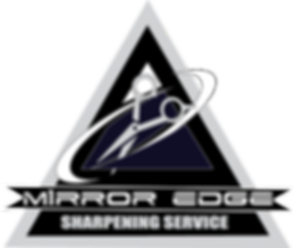 M1rror Edge Logo with knife and sharpening service identifier.