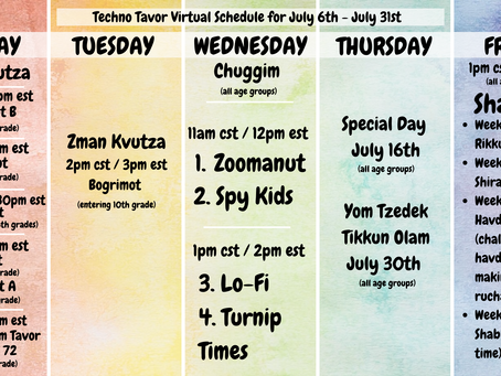Camp Techno Tavor Starts Monday! July 6th