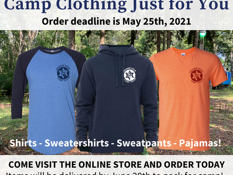 The Camp Tavor Store is NOW OPEN!