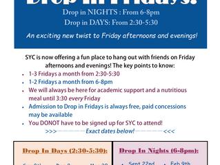 New Friday Schedule!!!