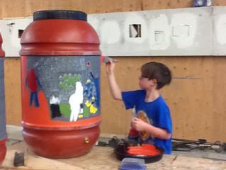 SYC Makes Rain Barrels!