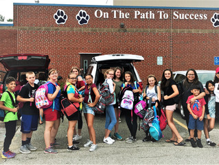 Local Church Donates Back Packs