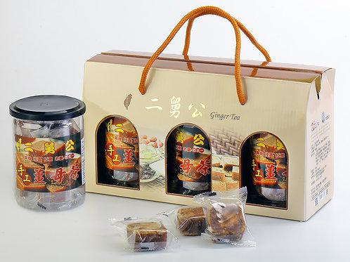 薑母茶塊禮盒/3罐
