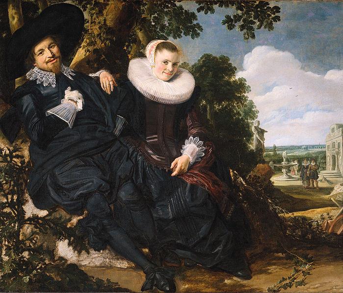 Wedding portrait of Isaac Abrahamsz. Massa and Beatrix van der Laan, c 1622, Frans Hals, oil on canvas, 140 x 166.5cm, Rijksmuseum, Amsterdam