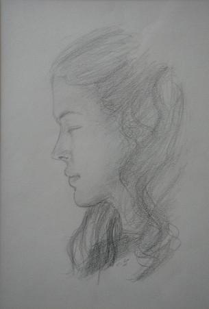 Portrait de l'épouse de l'artiste