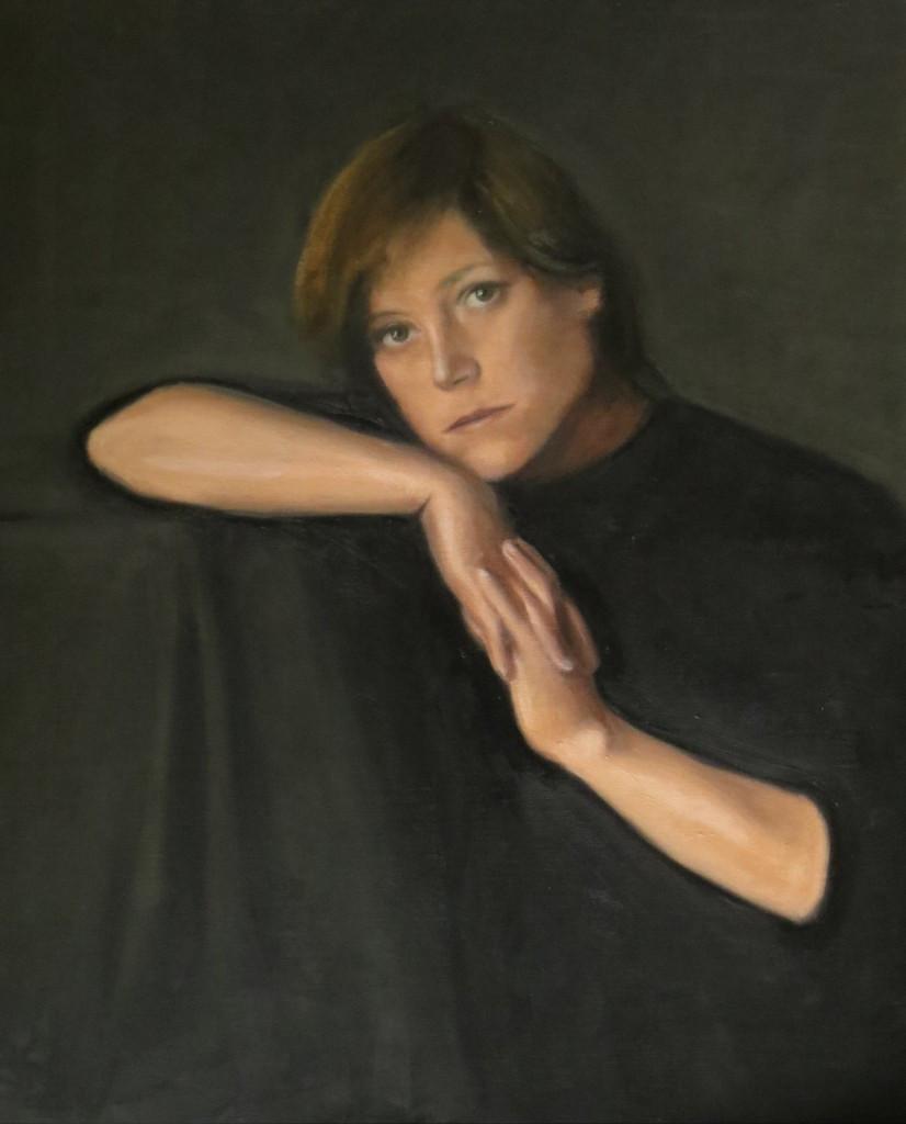 Vera Hyblova, centre midfield, oil on canvas, 70 x 60cm, 2014
