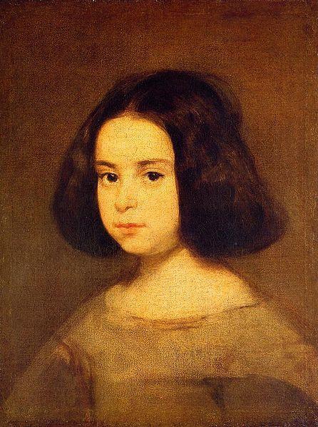 Nina by Velasquez , c .1640, oil on canvas, 51.5 x 41cm, Hispanic Society of America, New York