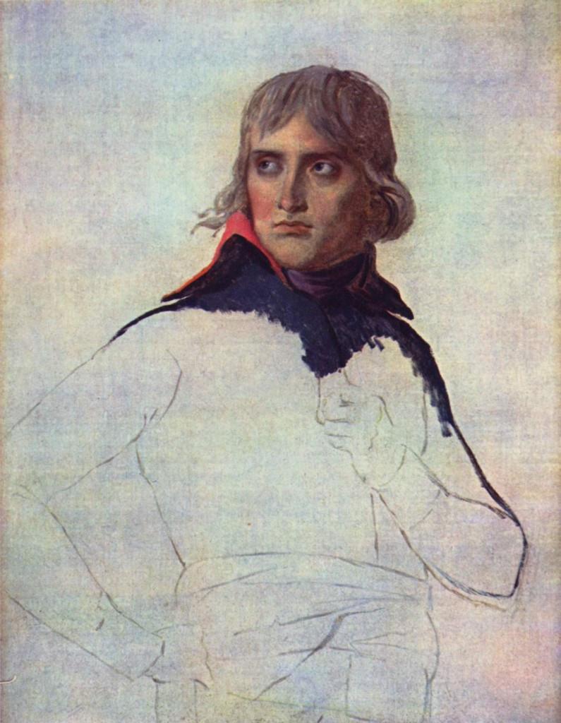 Napoléon par Jacques-Louis David, 1797-1798, huile sur toile, 81 x 64cm, Musée du Louvre, Paris