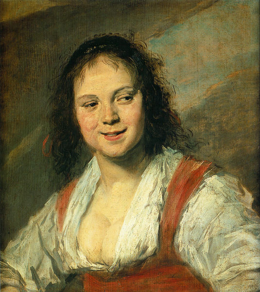 The Gypsy Girl, Frans Hals, oil on panel, 58 x 52cm, 1628 – 1630, Musee du Louvre Paris