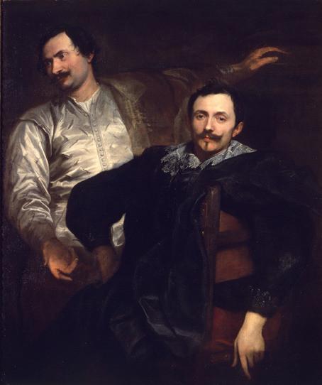 Double Portrait of Lucas and Cornelis de Wael, Anthony van Dyck, oil on canvas,120 x 101cm, 1627, Musei Capitolini, Rome