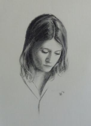 Portraits au fusain