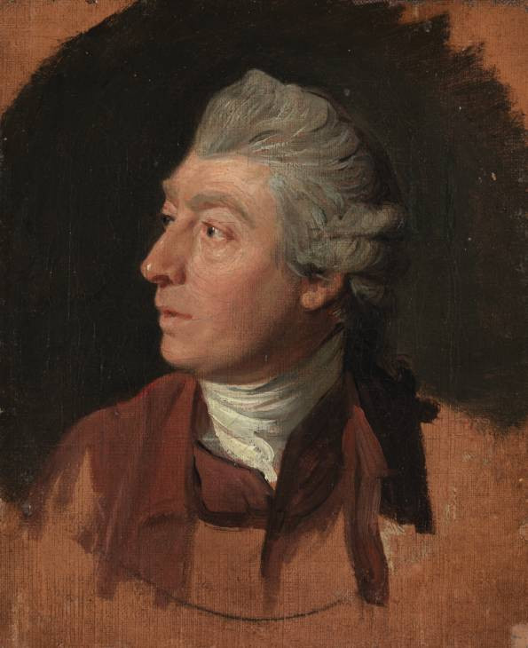 Thomas Gainsborough circa 1772 by Zoffany, oil on canvas, 19.7 x 17.1cm, Tate, London