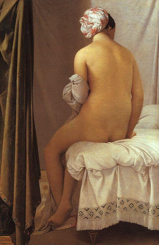   La baigneuse, dite Baigneuse Valpinçon, Jean-Auguste-Dominique Ingres, 1808, 146cm x 97 cm, Musee du Louvre