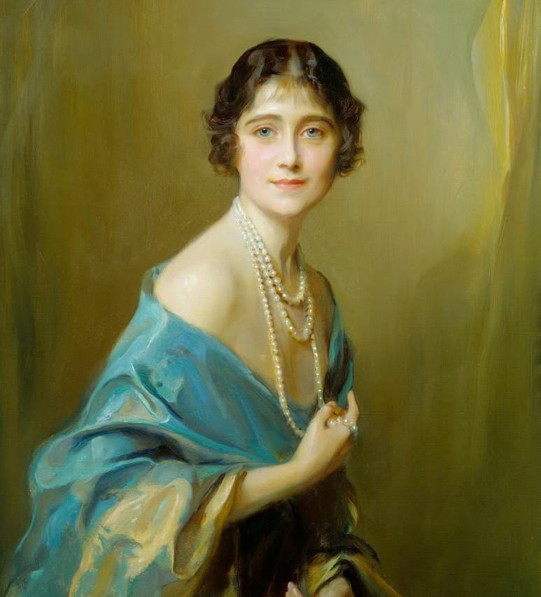 Queen Elizabeth when Duchess of York, Philip de László, 1925, oil on canvas, 90.2 x 9.2cm, Royal Collection