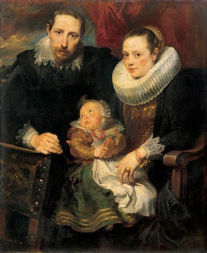 Family Portrait, Anthony van Dyck, oil on canvas, 113.5 x 93.5cm, 1621, Hermitage Museum, Saint Petersburg