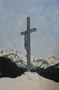 Morgins IV, huile sur bois, 30 x 20cm, 2014