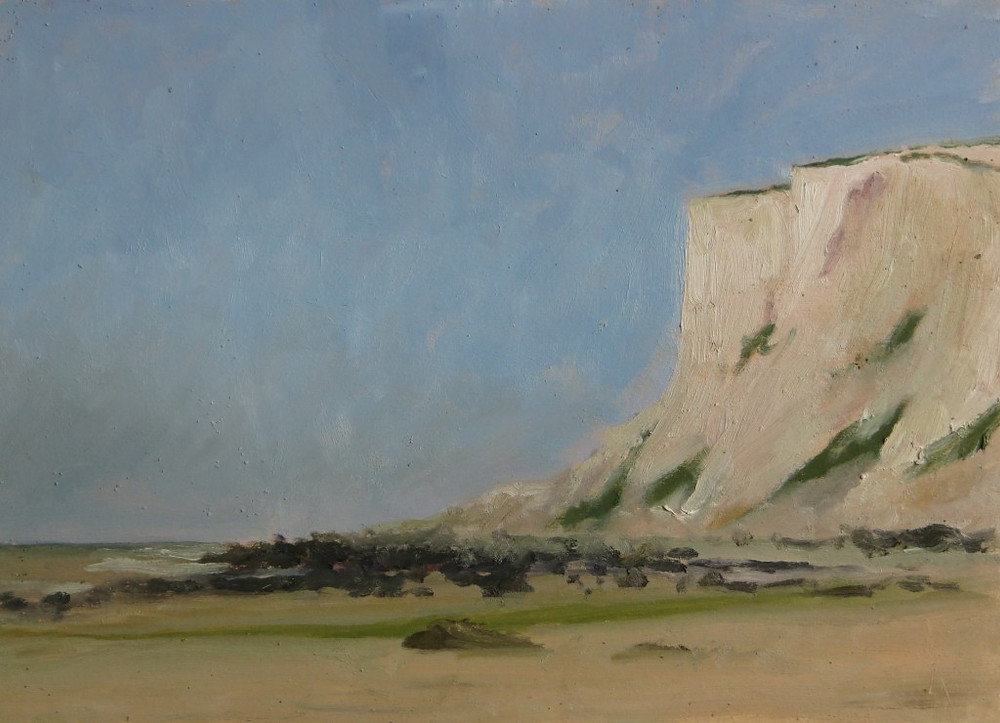 Beachy Head, huile sur bois, 25 x 35cm, juin 2013