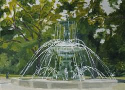 Fontaine, jardin des Anglais, Genève