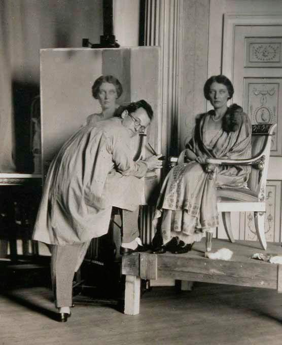 Sir Gerald Festus Kelly painting Edith Teresa Hulton (1923)