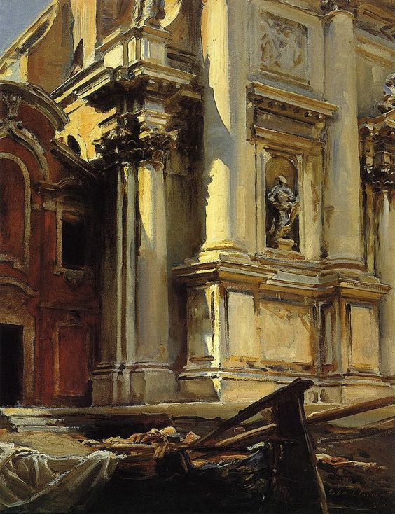 Corner of the Church of St Stae Venice Sargent