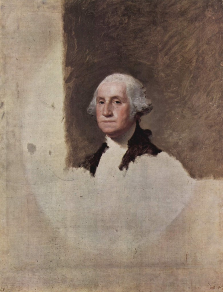 George Washington, 1796, by Gilbert Stuart, oil on canvas 101 x 88cm, Museum of Fine arts Boston
